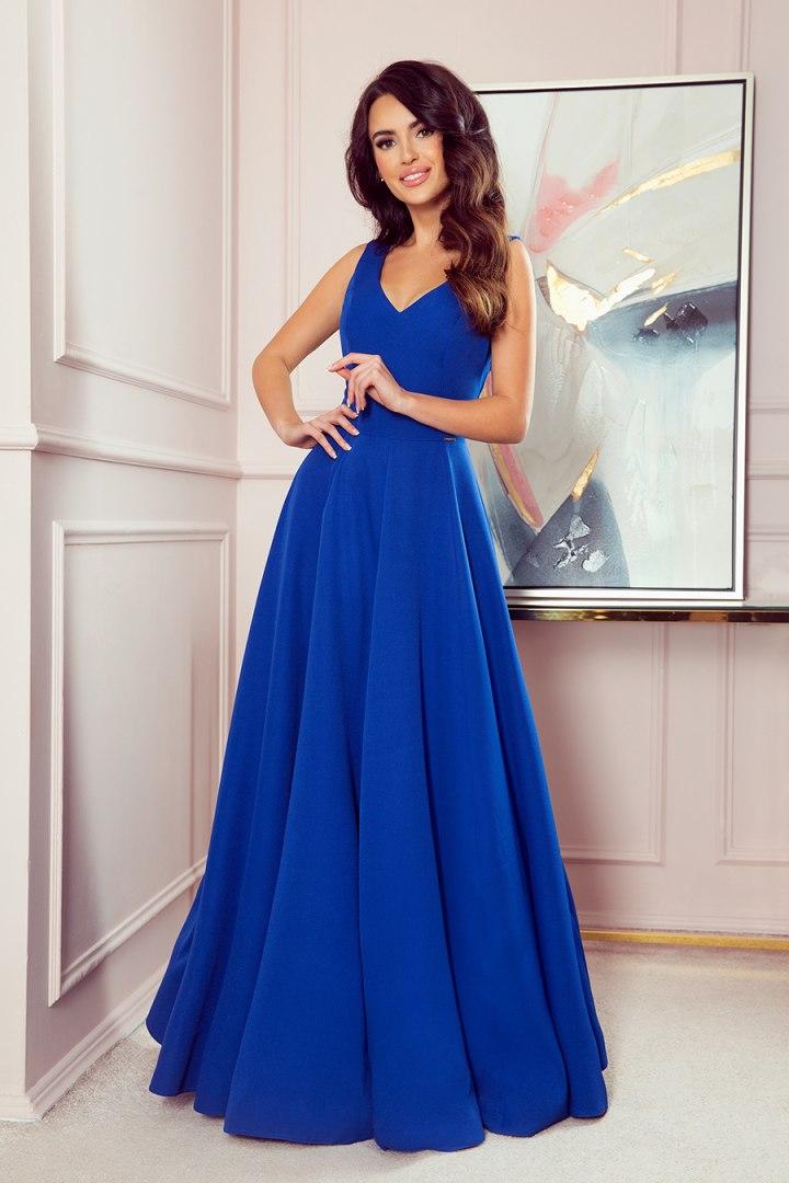 246-3 CINDY długa suknia z dekoltem - CHABROWA